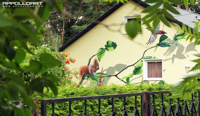 Natur_Graffiti_Kunst_Fassadenmalerei Fassadenkunst auf der Hausfassade Petershagen Eggersdorf Bilder