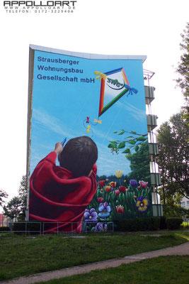 Graffitibild verschönert Stadtbild in Brandenburg