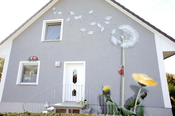 Wandmalerei auf Fassade von Eigenheim Fredersdorf