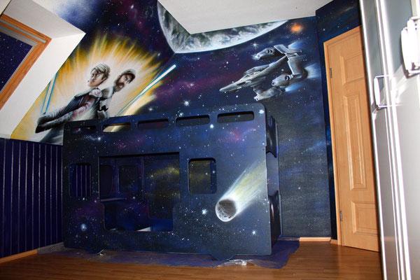 Kreative Kinderzimmer Ideen Graffiti Airbrush Appolloart Graffiti