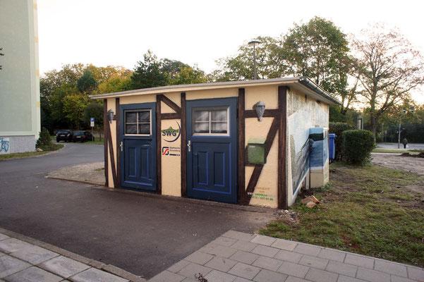 Malerei in 3d Wandgestaltung Trafohaus Gemeinde