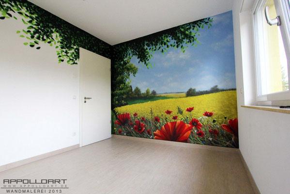 Wohnzimmer Airbrush kreative Wandbilder in Fredersdorf bei Berlin