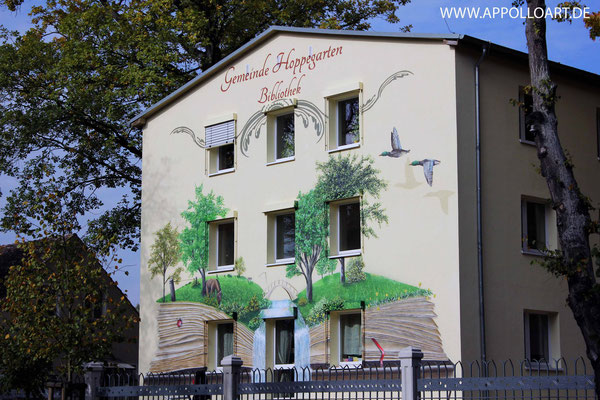 Graffiti Wandmalerei Gestaltung der Gemeinde Hoppegarten  Rennbahn
