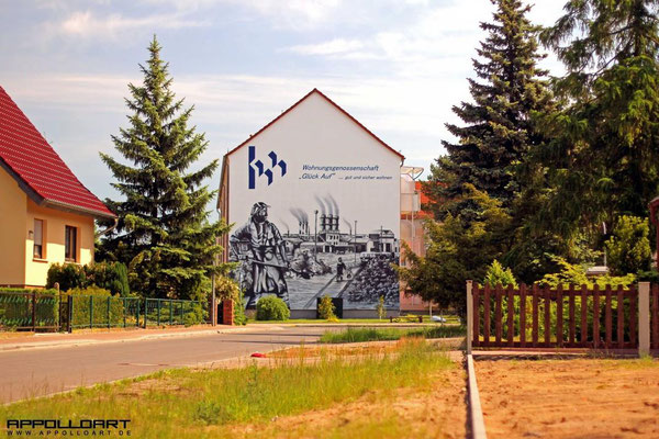 Fassadenmalerei Eberwalde Wohnungsbau Graffiti 3d