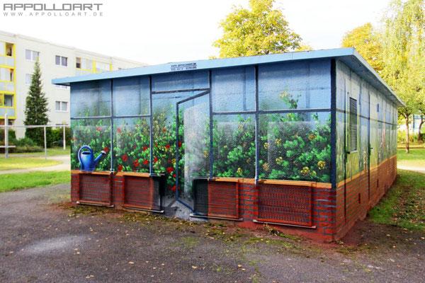 Stomhaus Bemalung Berlin -Graffitikünstler