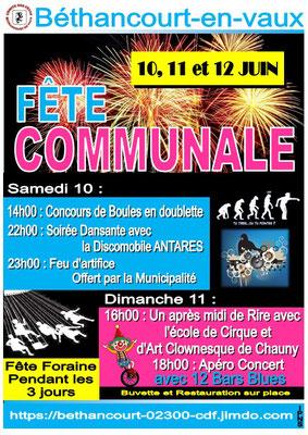 Affiche : Comité des Fêtes.