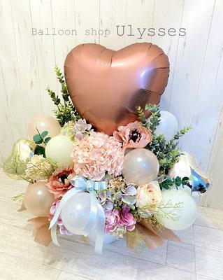 城県つくば市のバルーンショップユリシス バルーン電報 バルーンアート バルーンギフト 結婚式 結婚祝い バルーン花束 はなかごバルーン