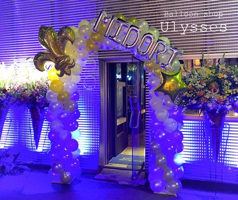 キャバクラ クラブ ホスト バルーン店内装飾 内装 出張装飾 バースデー 誕生日バルーン バルーンアーチ つくば市 ユリシス