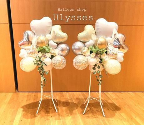 茨城県つくば市 バルーンショップユリシス 発表会 開店祝い 周年祝い バルーンスタンド スタンド花 お祝い花 誕生日 イベント