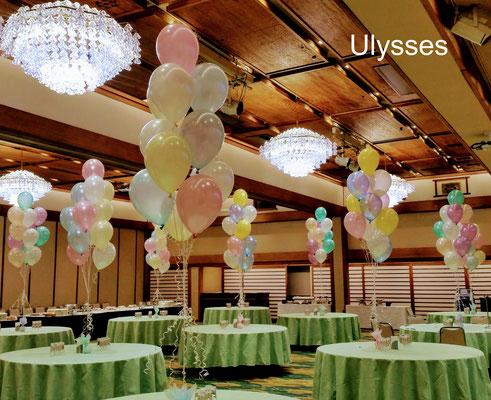 茨城県くば市 バルーンショップユリシス バルーンアート 成人式 同窓会 会場バルーン装飾 ステージ飾り 風船 デコレーション