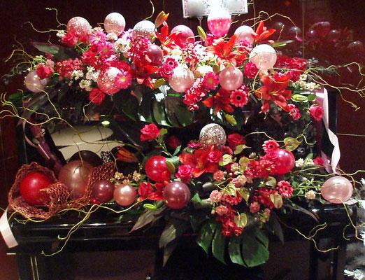 つくば市バルーンショップユリシス バルーンアート ピアノ 花 バルーン装飾