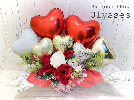 茨城県つくば市のバルーンショップユリシス バルーン電報 バルーンアート バルーンギフト 結婚式 結婚祝い バルーン花束 はなかごバルーン