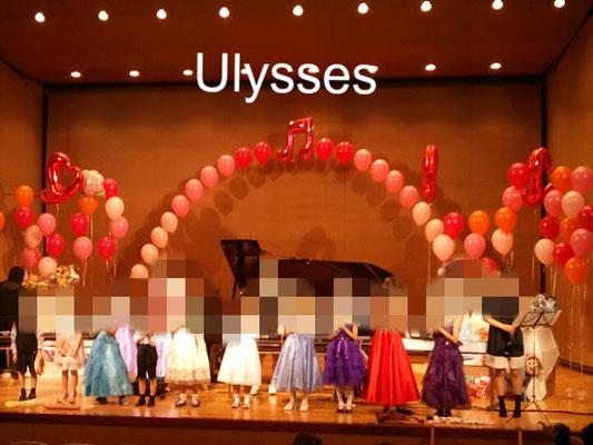 つくば市バルーンショップユリシス バルーンアート ピアノの発表会 ステージバルーン装飾