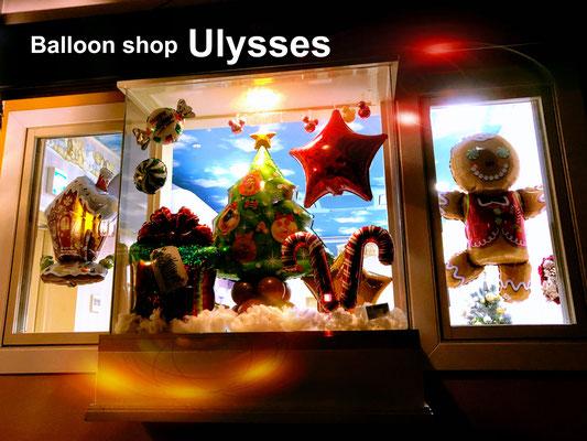 つくば市バルーンショップユリシス バルーンアート 美容室 バルーン装飾 クリスマスバルーン