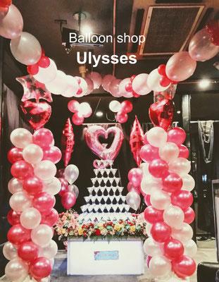 土浦市桜町 ホストクラブ 誕生日 バースデーイベント 店内バルーン装飾 ナイトワーク つくば市のバルーンショップユリシス