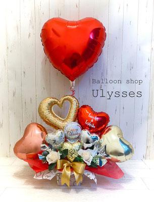 結婚祝い ウェディングバルーン バルーンアート バルーン電報 バルーン装飾 茨城県つくば市のバルーンショップユリシス 卓上バルーン