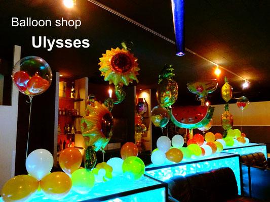 つくば市バルーンショップ ユリシス バルーンアート 龍ヶ崎市 キャバクラ 誕生日装飾 バルーン装飾 クラブ 夜