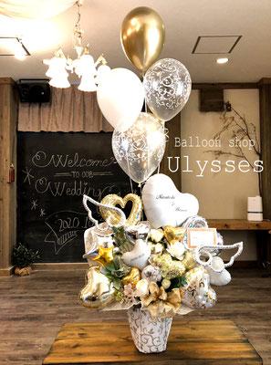 茨城県つくば市 バルーンショップユリシス バルーン電報 結婚祝いバルーン バルーンギフト バルーンアート 花アレンジ バルーンブーケ