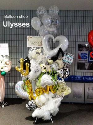 ジェジュン 横浜アリーナ バルーンスタンド つくば市バルーンショップ ユリシス バルーンアート 誕生日 開店祝い バースデー