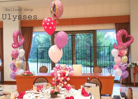 茨城県つくば市 バルーンアート バルーンショップユリシス 風船屋 七五三祝い 龍ヶ崎アルシェ様 パーティー 宴会 バルーン装飾
