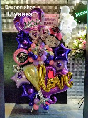 つくば市バルーンショップユリシス バースデー 店内装飾 バルーン装飾 内装 キャバクラ クラブ ホスト 誕生日 バルーンスタンド