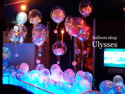 バルーンショップユリシス 龍ヶ崎 キャバクラ クラブ バースデー 誕生日バルーン装飾 店内装飾