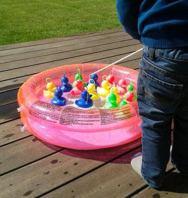 Entenangeln mit Planschbecken klein oder groß, Enten und Angeln