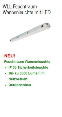WLL Feuchtraum Wannenleuchte mit LED