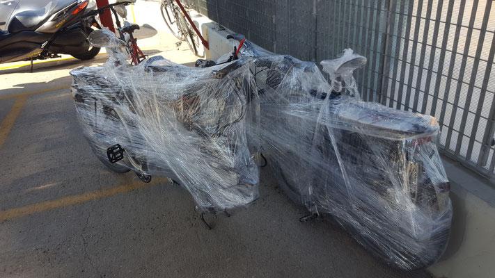 Unsere Esel, sicher verpackt - Radreise - Alles in 12 Taschen