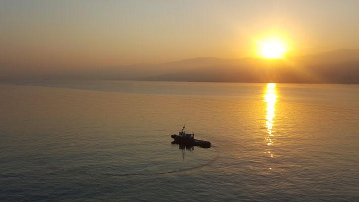 Schlepper im Hafen von Beirut - Radreise - Alles in 12 Taschen