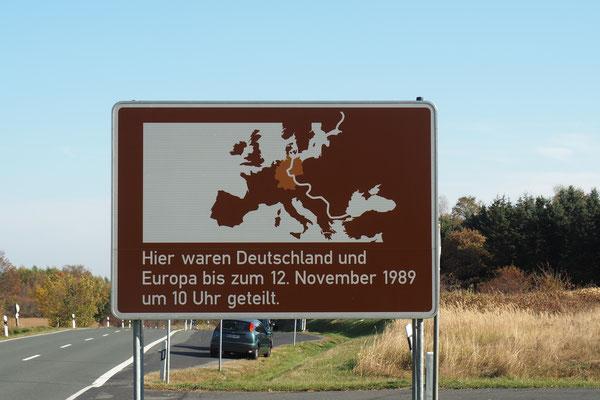 Quasi doch noch ein Grenzschild...