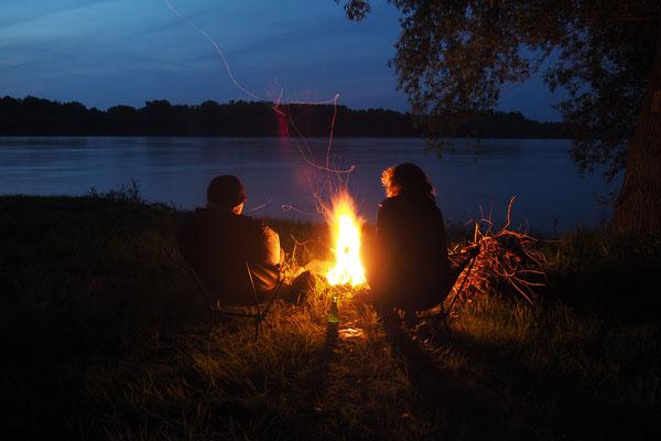 unser erstes Lagerfeuer