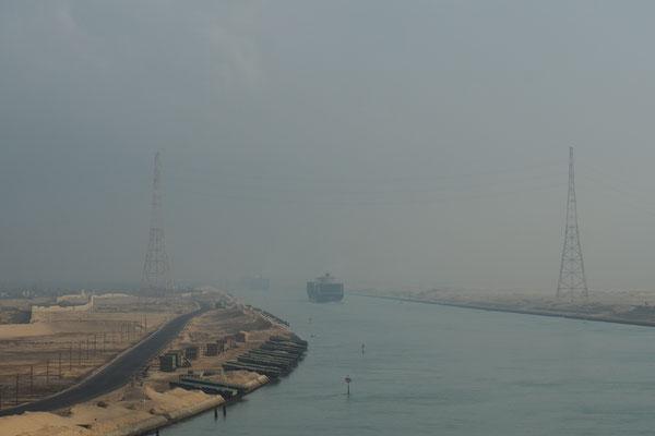Die ersten Meter in Suez Kanal