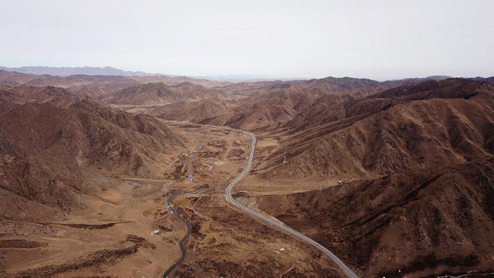 Flusslandschaft von oben