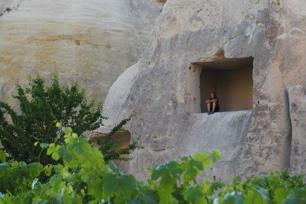 Ein Balkon in den Felsen