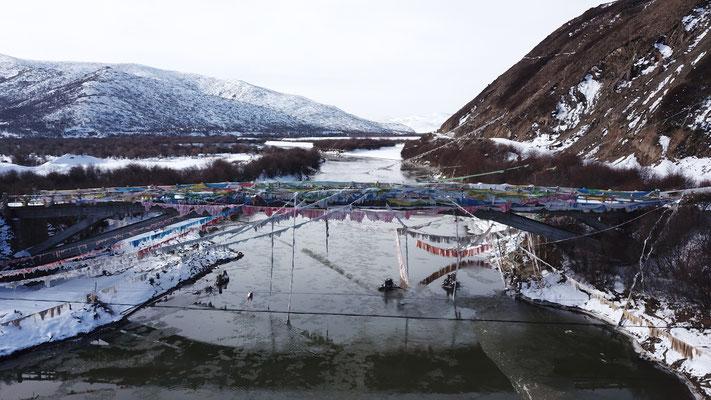 Schnee - Brücken Stillleben