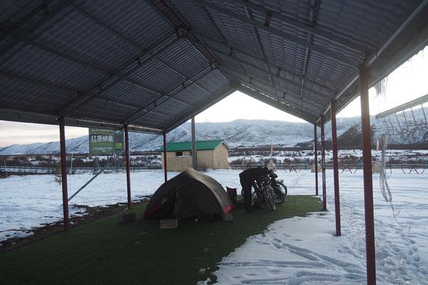Im Sommercamp im Schnee ;)
