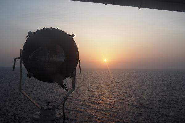 Sonnenuntergang auf dem indischen Ozean/Sunset on the indian Ocean - Cycletouring/Radreise