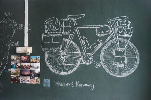 Jerry hat ein Auge für schöne Deko - Radreise/Cycletouring - Alles in 12 Taschen - Malaysia