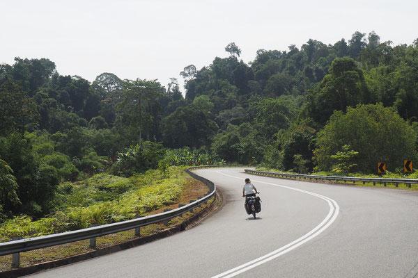 Winding road  - Radreise - Cycletouring - Thailand