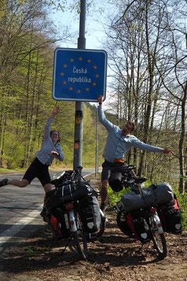Einfahrt in die Tschechei