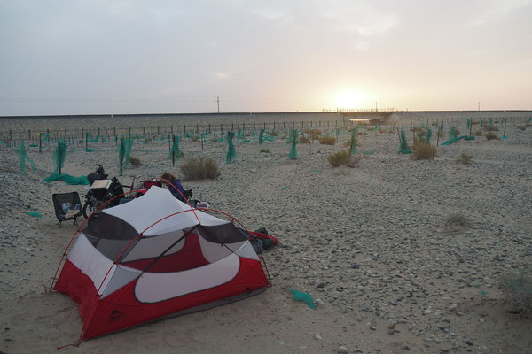 Crossing Xinjiang by bike on G315 - Camping Spots are there