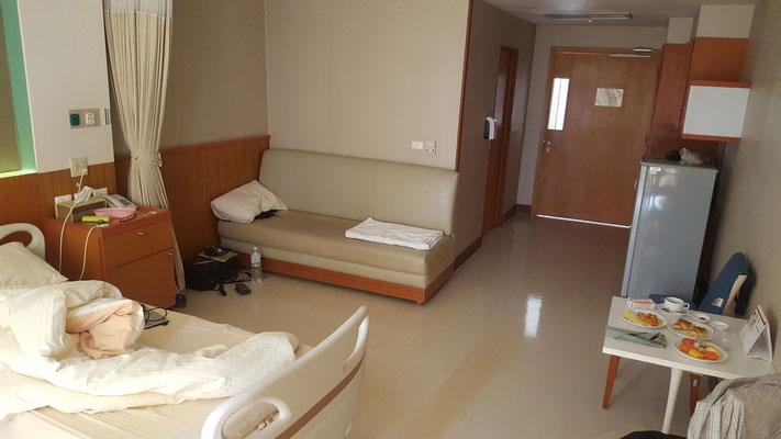 """Das """"Luxuszimmer"""" im Krankenhaus von Siem Riep in Kambodscha"""