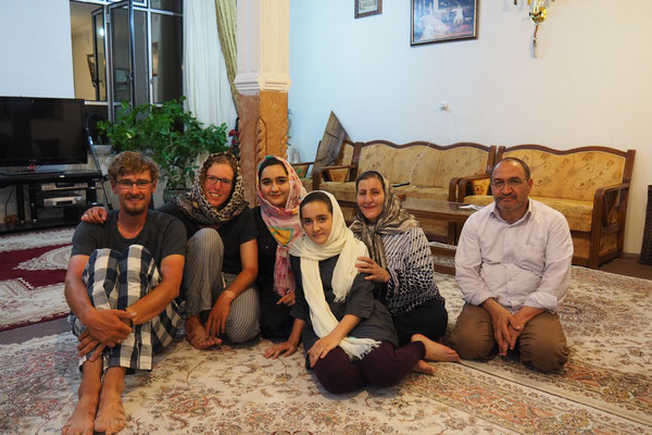 Iranische Gastfamilie.