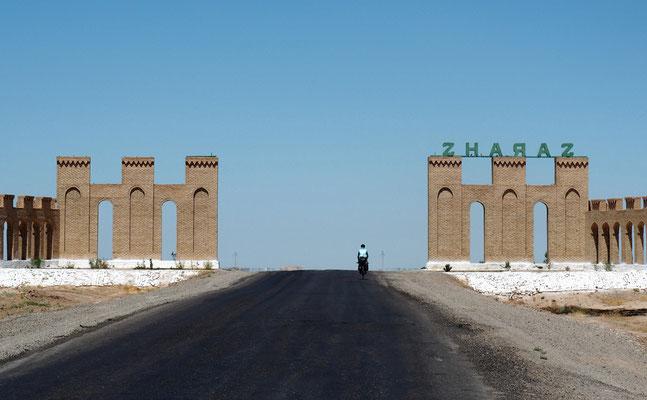 10km hinter der iranischen Grenze