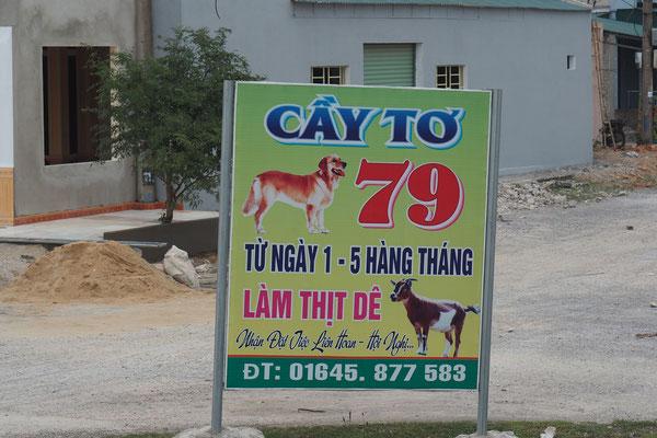 Hin und wieder ist auch mal ein Hund - oder eine Katze abgebildet und weißt auf das hier angebotene Fleisch hin