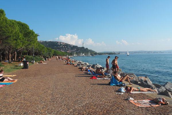 """Der """"Strand"""" von Triest"""