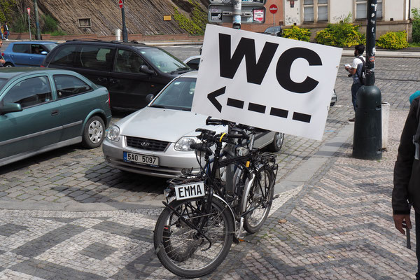 Mhmm, da stehen wohl normalerweise keine Fahrräder