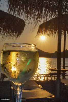 Abendstimmung am Strand von Panormos