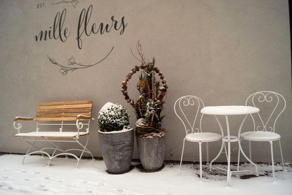Cafe Mille Fleurs im lockdown